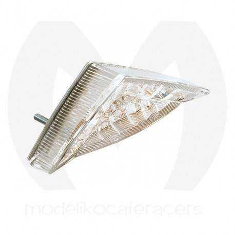 Piloto Trasero Mini Led Triangular, con luz Matricula