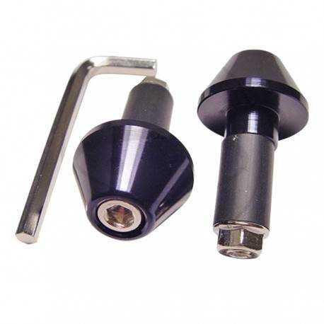 Contrapesos Aluminio Negro 17 mm para manillar Acero