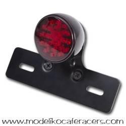 Piloto trasero Negro LED Xenolen con soporte