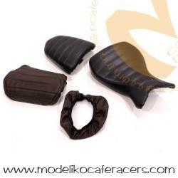 Fundas de asiento en cuero marrón para BMW RnineT