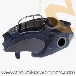 Cubre depósito en piel encerada con Porta Bultos para BMW R-nineT