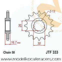 Piñón Arrastre Engranaje Fino Div. 530 - Honda VFR 750F RC36