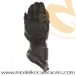 Guantes Racing de Cuero Oxford RP-1 Color Negro/Gris