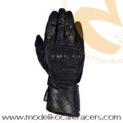 Guantes Racing de Cuero Oxford RP-2 Color Negro/Gris