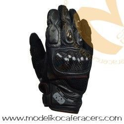 Guantes Racing Cortos de Rejilla Oxford RP-4 Color Negro/Gris