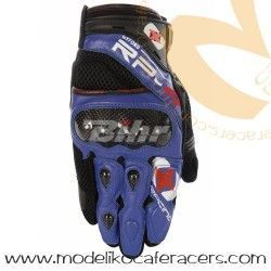 Guantes Racing Cortos de Rejilla Oxford RP-4 Color Azul/Negro