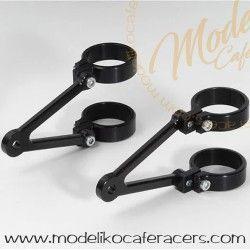 Soporte Faro LSL Aluminio Corto Negro.