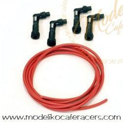 Kit de cable rojo y pipas de bujias NGK BMW - Serie K