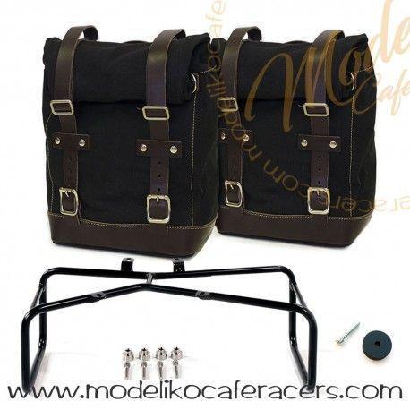 Bolsas Laterales con soporte Negro - Marrón