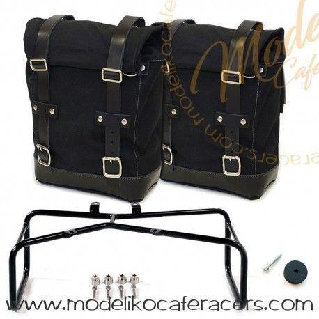 Bolsas Laterales y soporte en color Negro acabado Negro