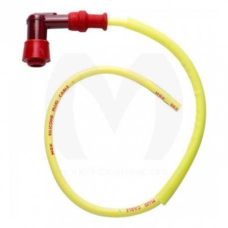 Cable Bujía NGK con Pipa Acodada LY-11