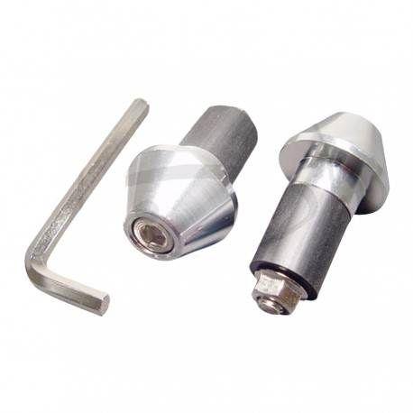 Contrapesos Aluminio Plata 13 mm para manillar Aluminio