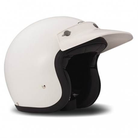 Visera Peak Off Road, para Casco DMD Vintage, color Blanco