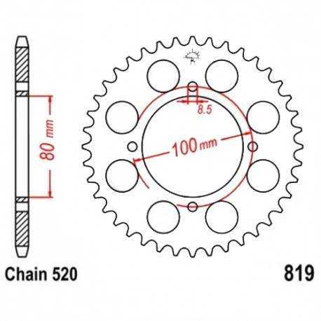 Retén Engranaje Trasero 85x65x10 mm BMW R45/R65