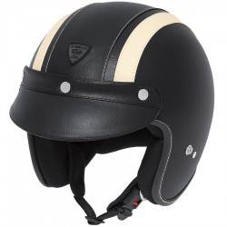 Casco Held :::... Rune Negro Beige Leather