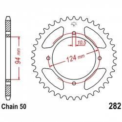 Corona 34D División 530 Plata - Honda CB500 K Four