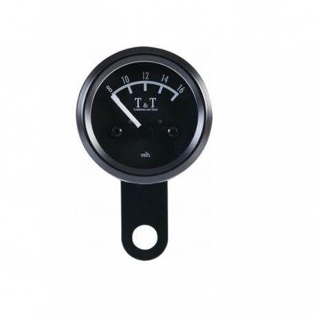 Reloj Voltimetro T&T - 48 mm - Negro