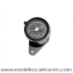 Velocímetro Electrónico Negro 60 mm con indicadores