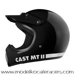 Casco Retro Cross Integral CAST MT-II Classic - Negro