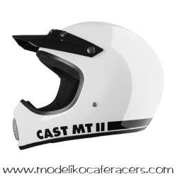 Casco Retro Cross Integral CAST MT-II Classic - Blanco