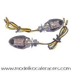 Juego Intermitentes LED JMT Mod. Mini-1 Negro-Cristal