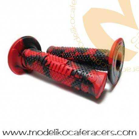 Puños Rojo-Negro Domino Cerrado 118 mm