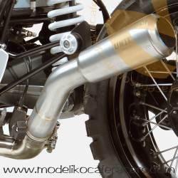 Cola de escape baja en acero -BMW RnineT