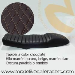 Asiento Biplaza Largo Chocolate para BMW Serie K con encaje bastidor