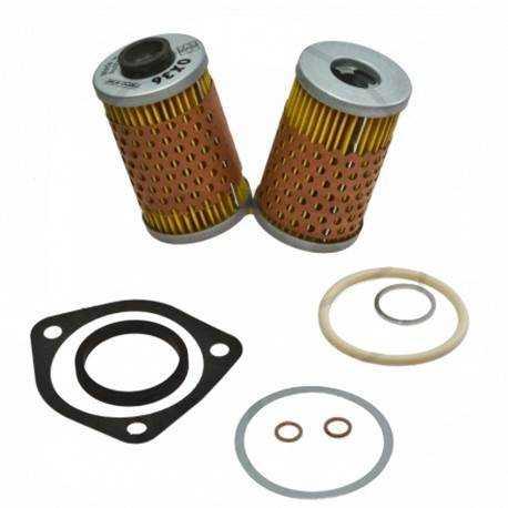 Filtro de Aceite Mahle con Junta, modelo con radiador de aceite, 2 piezas