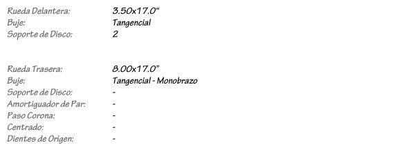 DUCATI Diavel 1200 - Llantas de Radios KINEO Wheels
